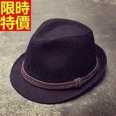 小禮帽-復古亞麻正韓休閒時尚經典款男爵士帽3色67e35【巴黎精品】