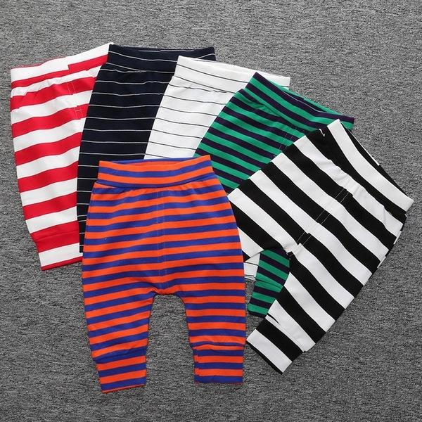 寶寶長褲 繽紛條紋 嬰兒長褲 棉質運動褲 哈倫褲 童裝 SK6167 好娃娃