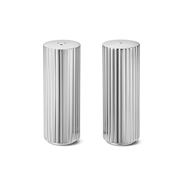 丹麥 Georg Jensen Bernadotte Salt & Pepper Shaker Set 喬治傑生 瑞典王子系列 不鏽鋼 椒鹽罐 兩件組