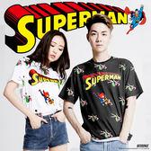 OUTER SPACE X DC正義聯盟-DC超人好忙T(白/黑)(台灣限定)