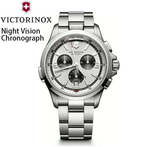 【萬年鐘錶】瑞士VICTORINOX 維氏 Night Vision 創新LED 照明 計時碼錶 VISA-241728