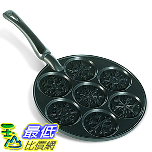 [美國直購] Nordic Ware 01945 雪花煎餅鍋 Snowflake Pancake Pan, Black 美國製 鬆餅
