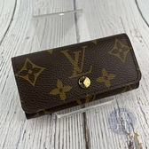 BRAND楓月 LOUIS VUITTON 路易威登 LV M62631 原花LOGO 鑰匙包 配件 配飾 隨身小物