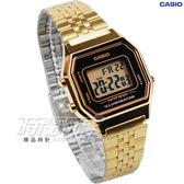 CASIO卡西歐 復古風時尚經典女錶 金黑 鬧鈴 碼錶 LA680WGA-1 LA680WGA-1DF LA680WGA-1D