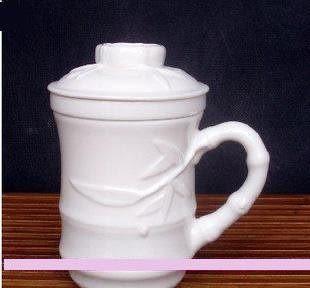高白瓷茶杯 竹葉清