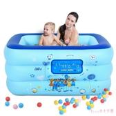 幼兒童充氣游泳池家用小孩洗澡浴盆寶寶玩具充氣水池釣魚池 DR22352【Rose中大尺碼】