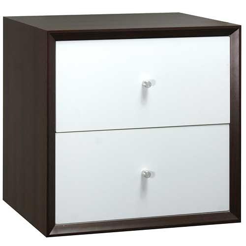 【藝匠】魔術方塊胡桃色大雙抽櫃收納櫃 家具 組合櫃 廚具 收藏 置物櫃 櫃子 小櫃子