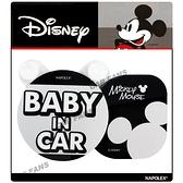 【愛車族】迪士尼米奇後窗搖擺警示牌-BABY IN CAR