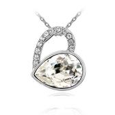 水晶項鍊+925純銀吊墜-愛在此時生日情人節禮物女飾品4色73bb242【時尚巴黎】