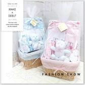 Bee Bo 嬰兒(三至六個月) 10件套裝大藤籃 彌月禮盒 寶寶 BABY 送禮 滿月禮 禮盒 新生兒禮盒