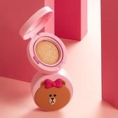 韓國 MISSHA x LINE 聯名款氣墊粉餅 15g 氣墊粉餅 網狀氣墊粉餅 底妝 熊美 熊大妹