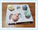 中秋節日本兔子和菓子6孔模、6連模|巧克力蛋糕烘培食品級矽膠模|專業手工皂模具