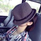 韓國捲邊英倫爵士帽夏天逛街防曬遮陽小禮帽