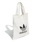 adidas 拖特包 Trefoil Shopper bag 米白 黑 男女款 三葉草 購物袋 包包 【ACS】 DX2047