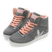 PLAYBOY美型韓系 針織高筒內增高休閒鞋-灰