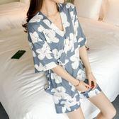 韓版學生睡衣女夏季短袖夏天家居服兩件套裝