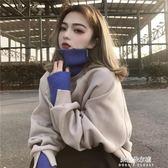 衛衣春裝新款韓版學生高領寬鬆假兩件加絨加厚連帽衛衣女秋冬上衣  朵拉朵衣櫥