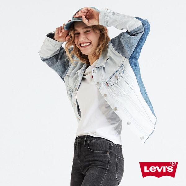 [買1送1]Levis 女款 牛仔外套 / Boyfriend 寬鬆版型 / 色塊拼接