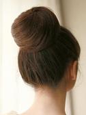 真髮絲發包 韓式拉繩扣式直發花苞丸子頭假髮 簡便易打理假髮花苞