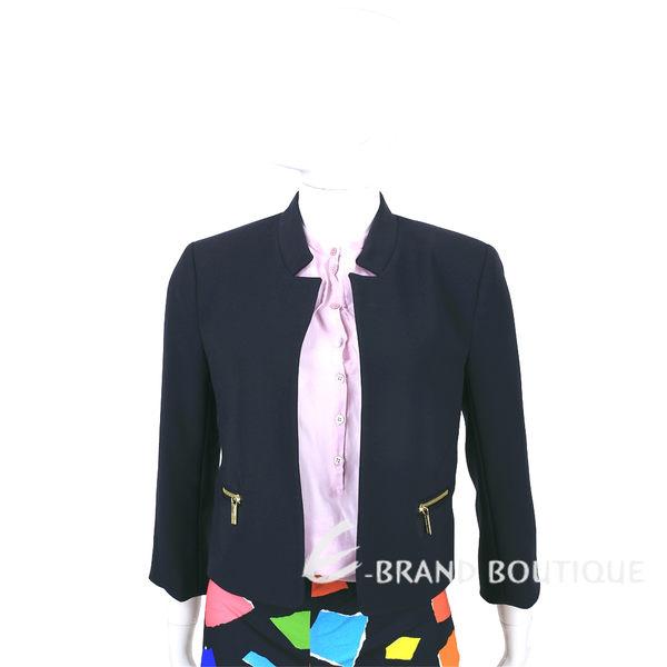 MICHAEL KORS 深藍色拉鍊口袋七分袖西裝外套 1520489-34