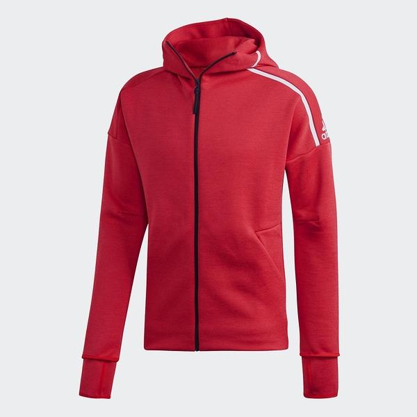 ADIDAS Z.N.E. 男裝 外套 連帽 慢跑 訓練 排汗 透氣 紅【運動世界】FL3992