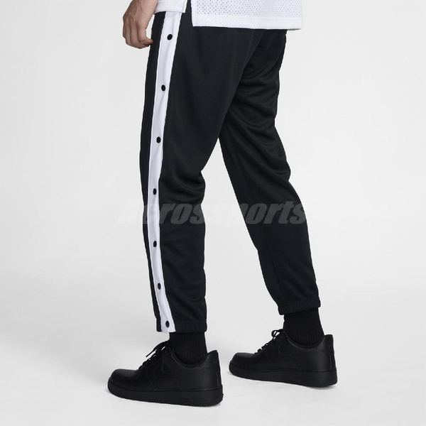 Nike 長褲 NSW Tearaway Trousers 黑 白 男款 排扣 【PUMP306】 BV2628-010
