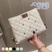 斜背包 小精靈小鉚釘菱格斜背包-Joanna Shop