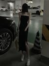 抹胸洋裝 2021夏季新款韓版設計感小眾抹胸長裙打底裙開叉修身顯瘦連身裙女 寶貝 618狂歡