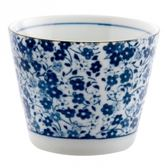 藍染小花 3吋茶杯 8.5cm S3-17