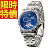 機械錶-陀飛輪鏤空質感焦點男手錶2色54t26【時尚巴黎】