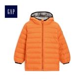 Gap男嬰幼童 保暖長袖連帽羽絨服 473803-運動橙色
