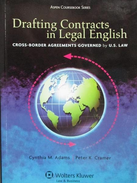 【書寶二手書T6/法律_ZCC】Drafting Contracts in Legal English: Cross-B