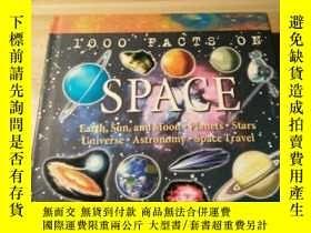 二手書博民逛書店英文原版《1000罕見FACTS ON SPACE 》精裝多圖版