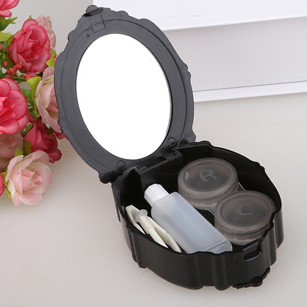 復古薔薇花眼鏡盒 安娜薔薇花 收納盒 八零良品 【SV6761】BO雜貨