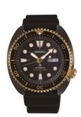【SEIKO】PROSPEX 海龜系列  黑金色潛水機械錶