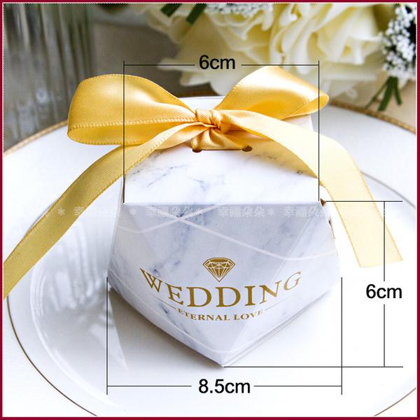 鑽石大理石紋盒+英國Tiptree小果醬(2緞帶色可選-需DIY組裝) - 送客禮 迎賓禮 位上禮 遊戲禮物
