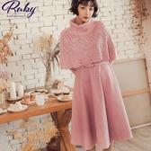洋裝 蕾絲斗篷兩件式兩穿長袖長洋裝-Ruby s 露比午茶