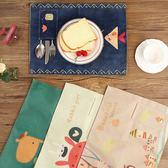 日式棉麻布藝餐墊防水歐式隔熱桌墊