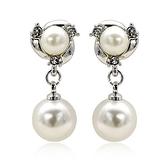 耳環 925純銀珍珠-優雅氣質生日情人節禮物女耳針2色73gt18[時尚巴黎]