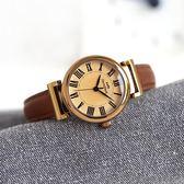 小錶盤女士小清新手錶文藝復古學生女錶