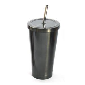 HOLA 晨光不鏽鋼吸管杯 灰色