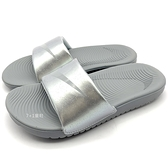《7+1童鞋》NIKE KAWA SLIDE (GS/PS) 輕量 防水 運動 休閒拖鞋 F885 灰色
