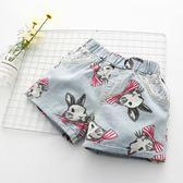 寶寶兔子牛仔短褲 2018夏裝韓版新款女童童裝