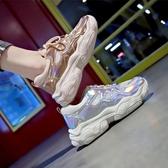 女休閒運動鞋 韓版女鞋子 透氣老爹鞋女夏季新款學生百搭街拍增高鞋休閒鞋【多多鞋包店】ds4761