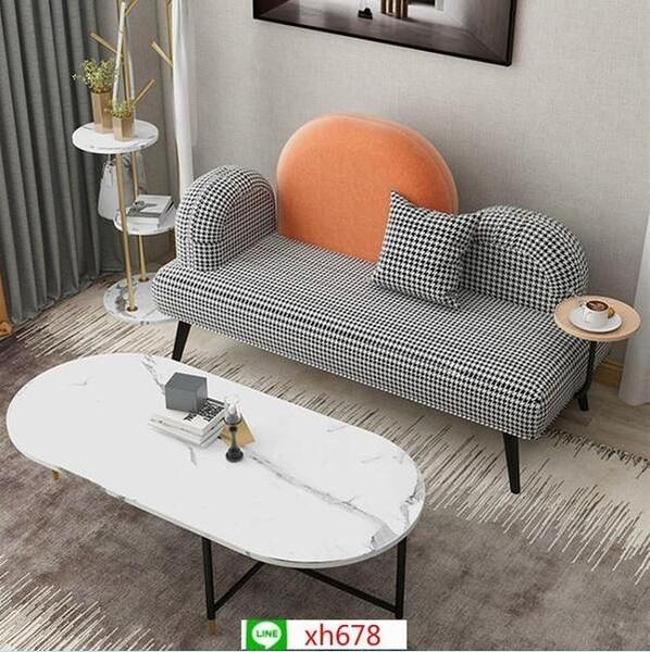北歐風服裝店小沙發臥室簡易小戶型客廳個性ins 雙人沙發網紅沙發