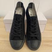 厚底懶人鞋潮帆布鞋休閒鞋(39-44號/222-8026)