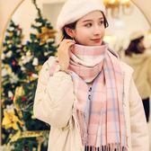 圍巾女冬季韓版百搭加厚學生格子可愛少女士ins心秋冬天披肩圍脖   米娜小鋪