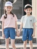短褲 女童牛仔短褲夏季外穿洋氣2021新款夏裝薄款兒童純棉男童休閒褲子
