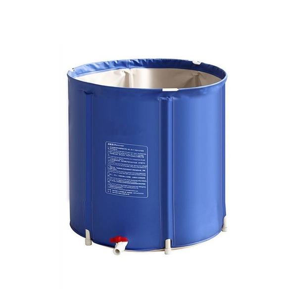 免運【小型折疊水塔150L】儲水桶 加厚折疊收納浴桶 蓄水桶 收納泡澡桶 五層夾棉 送水龍頭 150L