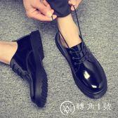 夏季韓版漆皮英倫歐美厚底馬丁鞋亮皮短靴潮流男士休閑皮鞋大頭鞋